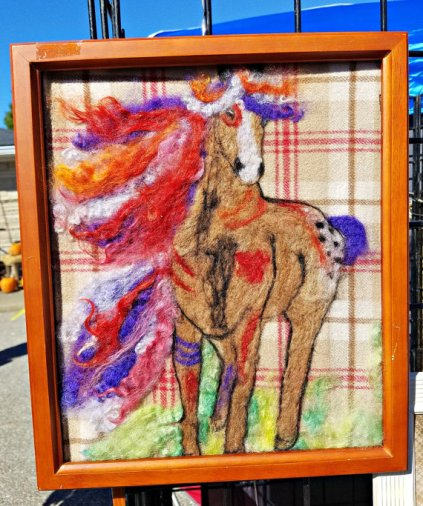 War Pony Needle Felted Wall Art