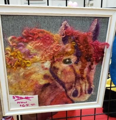 needle felted stallion art