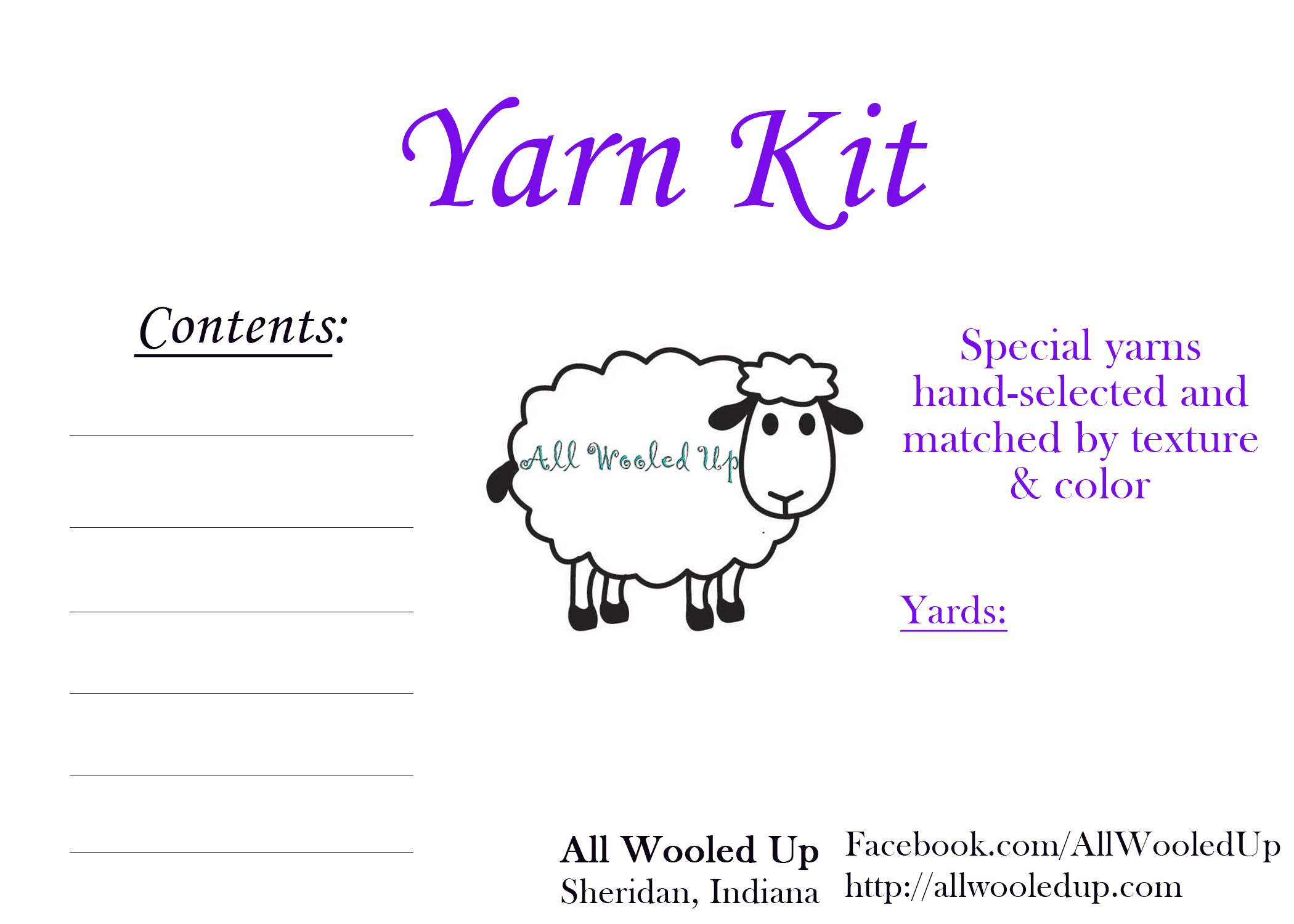 All Wooled Up Yarn Kit