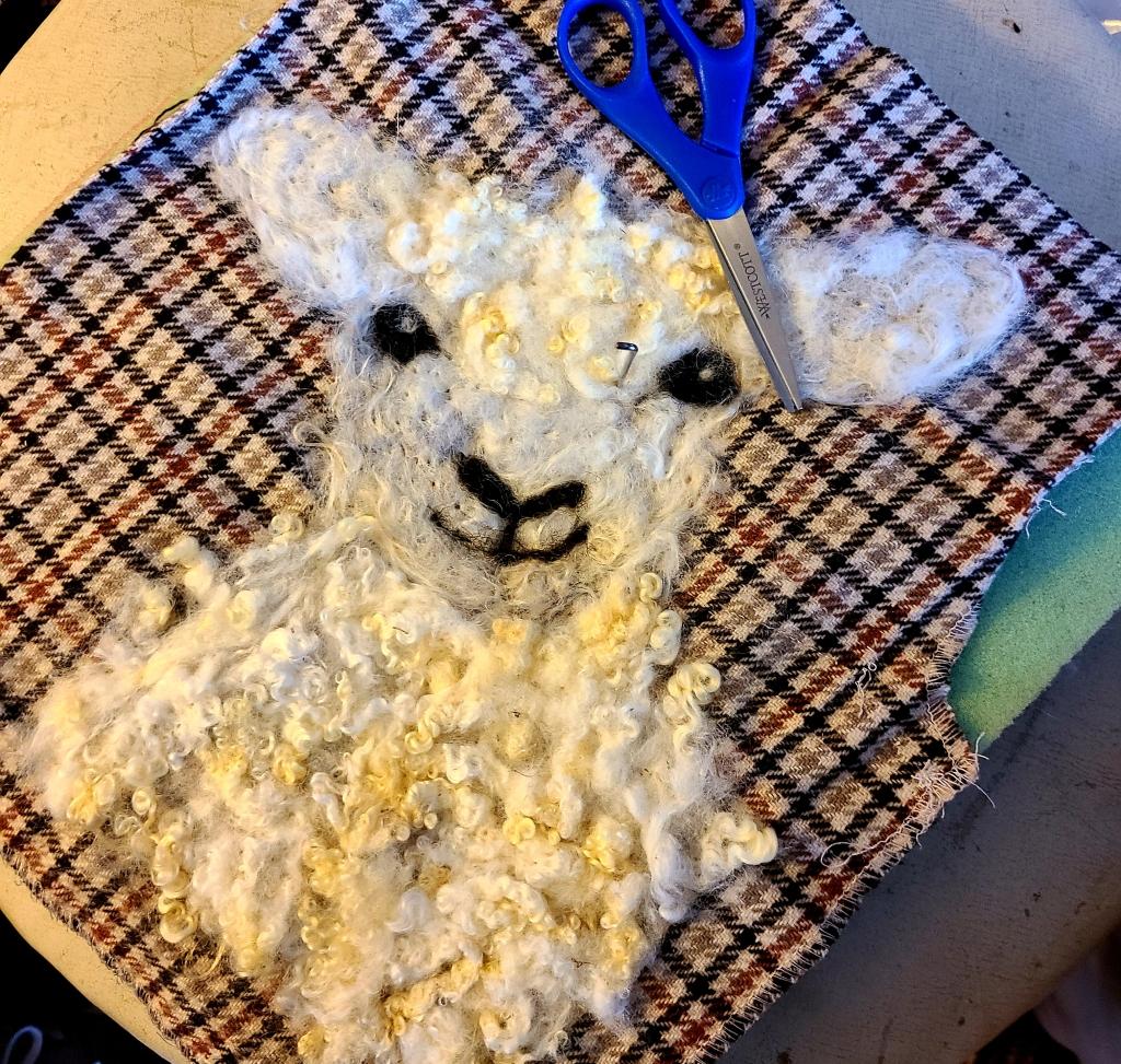 lamb fiber art