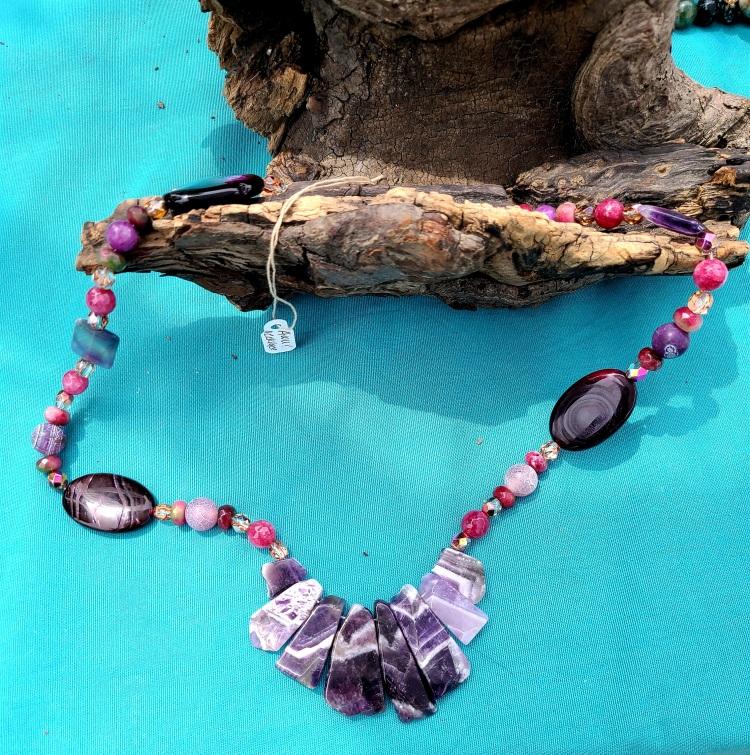Purple Platitudes Semi-Precious Necklace